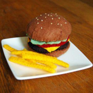 burger frites en feutrine