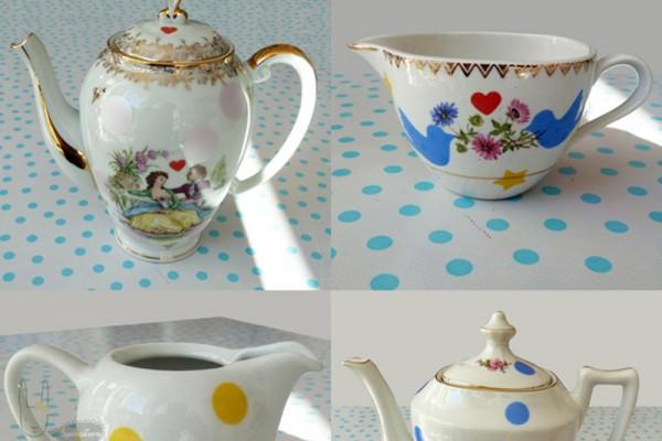Théières, pots à lait & tasses