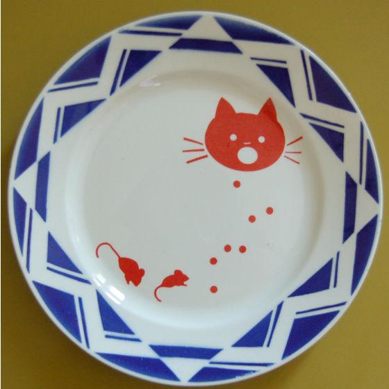 assiette lapin citron chat et souris