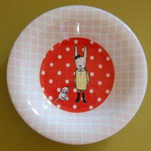 assiette customisée lapincitron