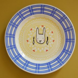lapin gourmand assiette