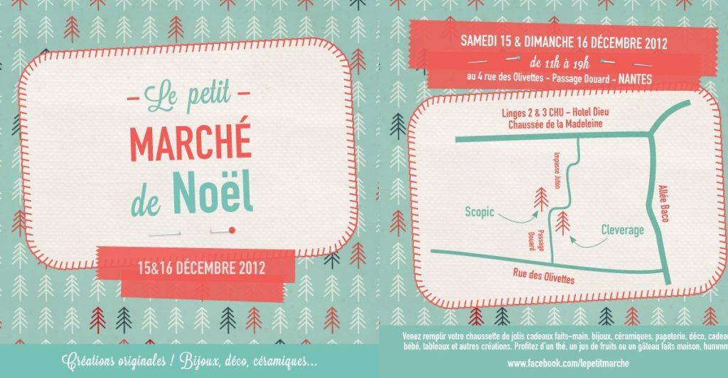 Flyer petit marché Noël Nantes 2012