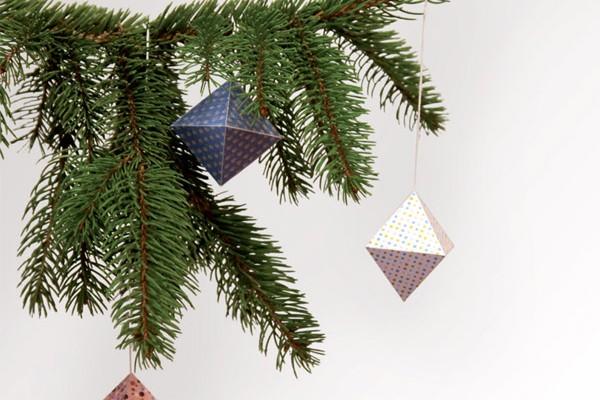 Boule de Noël en papier à monter soi-même