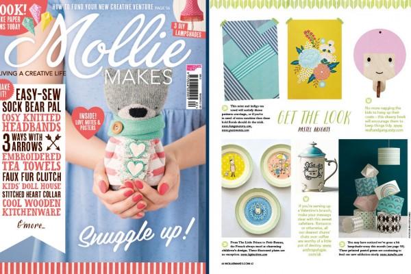 Lapincitron dans le dernier Mollie makes magazine.