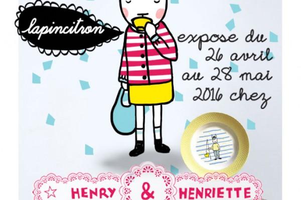 Une exposition tout le mois de mai 2016 chez Henry Henriette !
