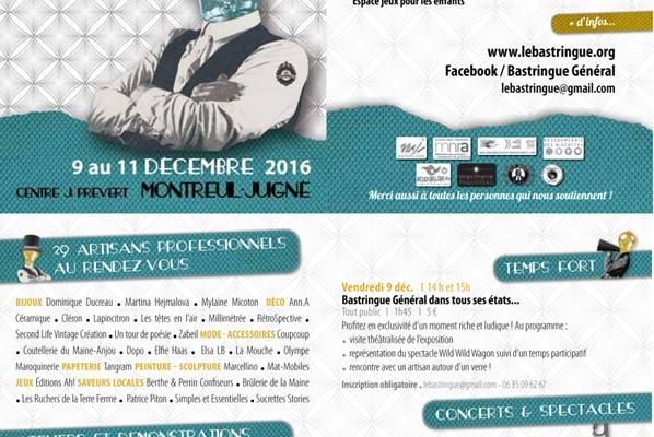 Au bastringue Général les 9, 10 & 11  décembre 2016