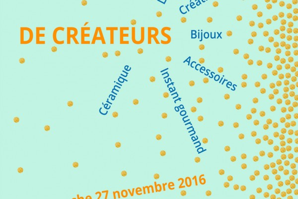 Vente créateurs sur Nantes, le 27 novembre 2016
